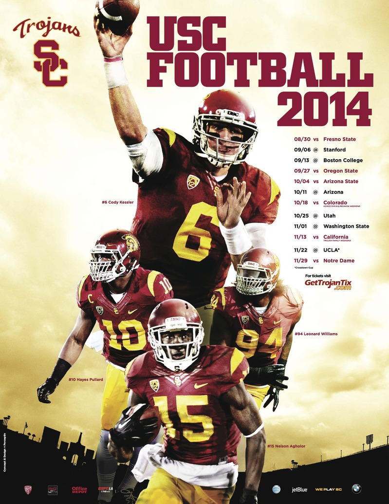 2014 USC Football Poster