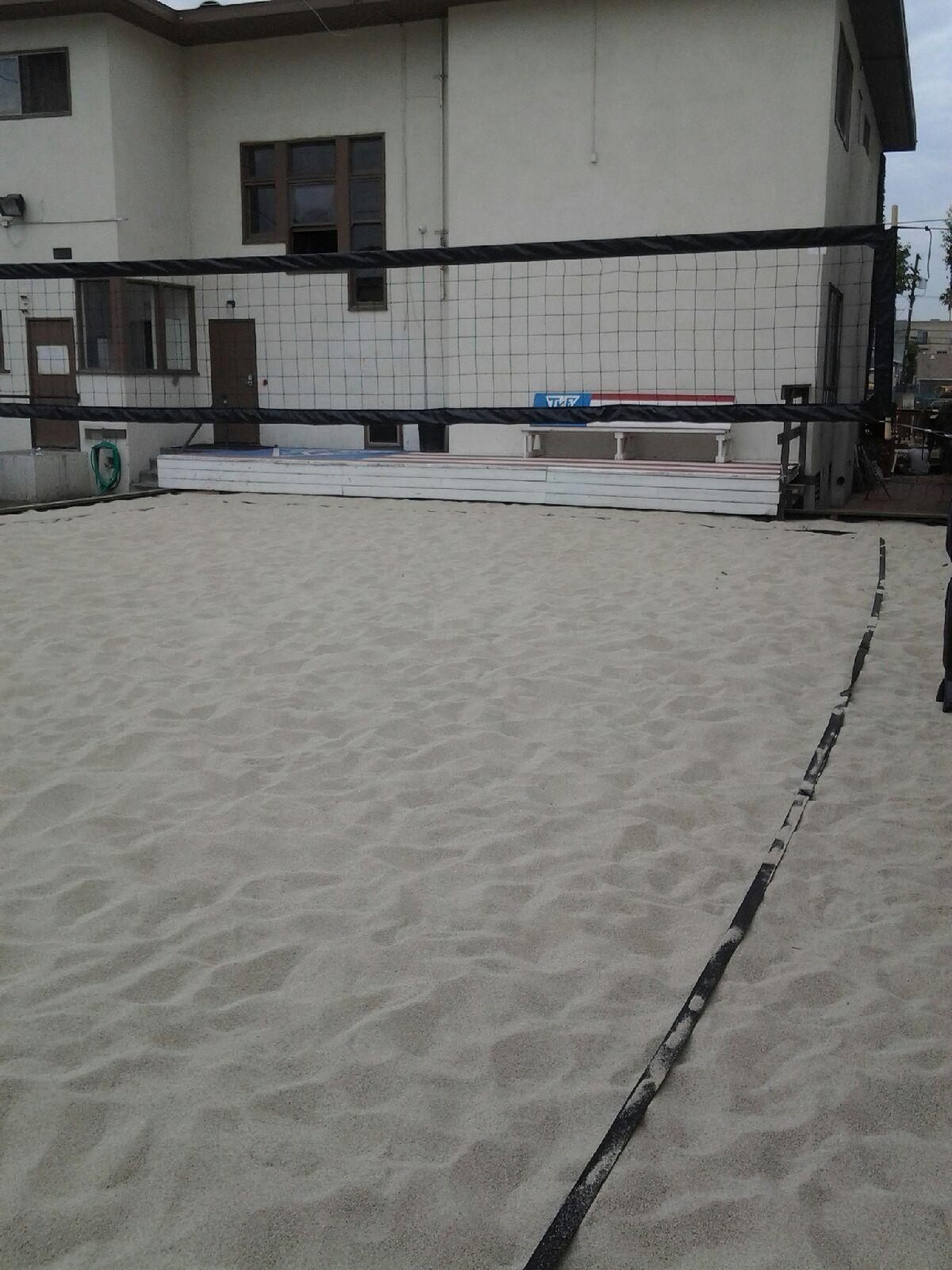 All New TKE Volleyball Court