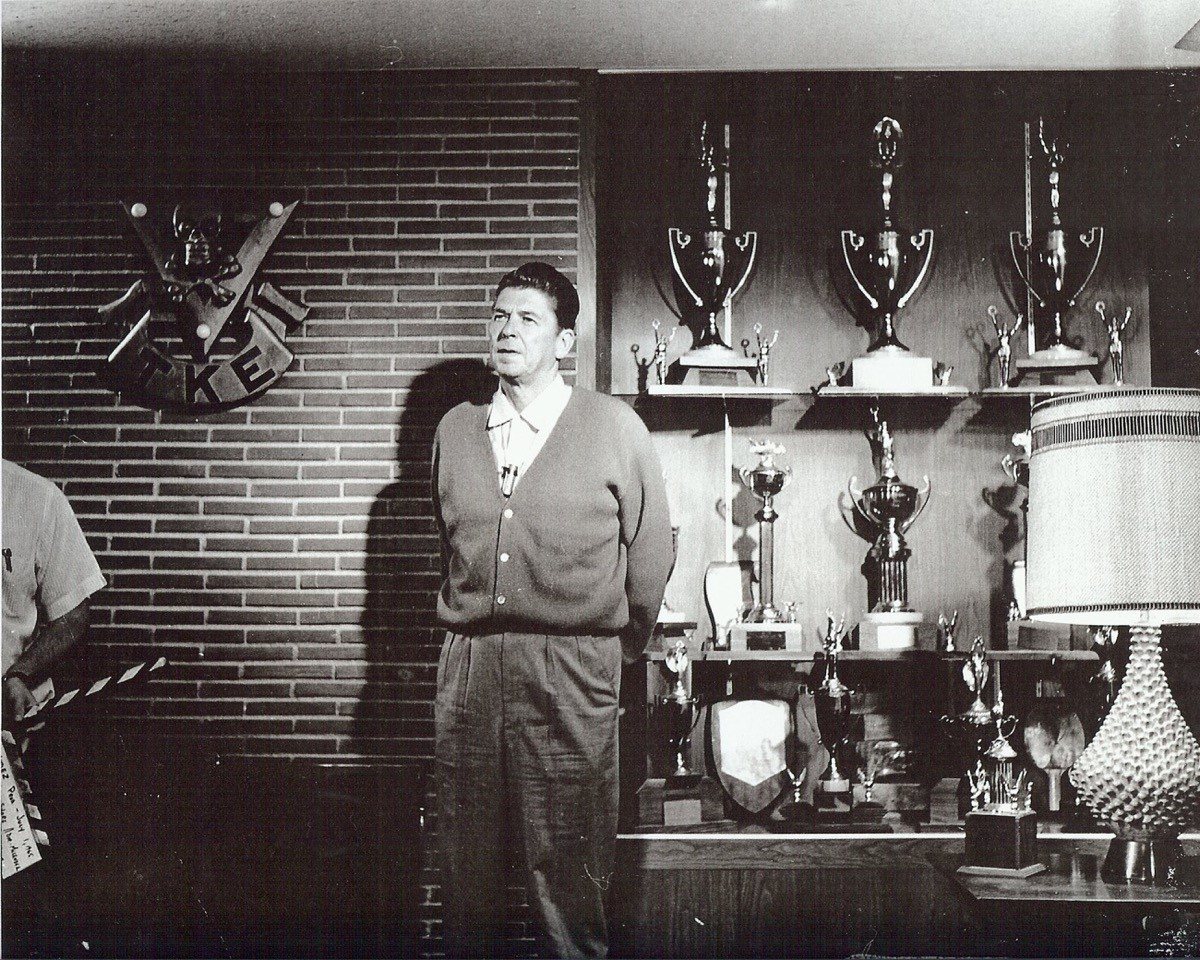 Ronald Reagan in TKE USC Beta-Sigma Library