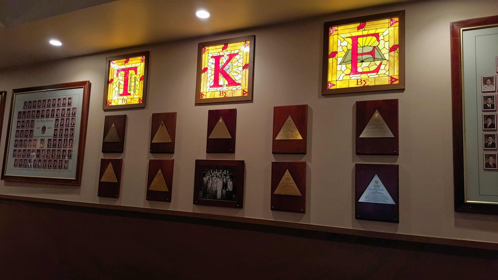 TKE Stained Glass Windows in Library